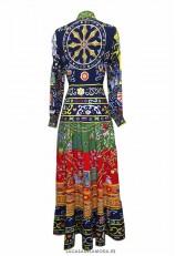 Vestido largo fiesta estampado original con lazo