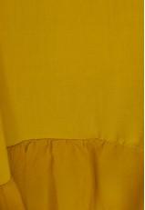 Vestido midi asimétrico con volante y de asas Lemon Curry