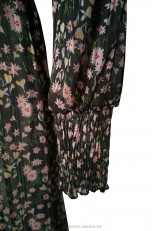 Vestido midi estampado flores