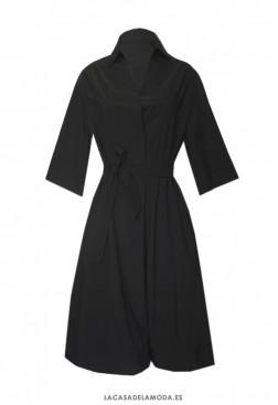Vestido negro básico fiesta y casual