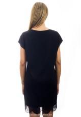 Vestido negro holgado corto