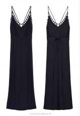 Vestido negro largo espalda decubierta