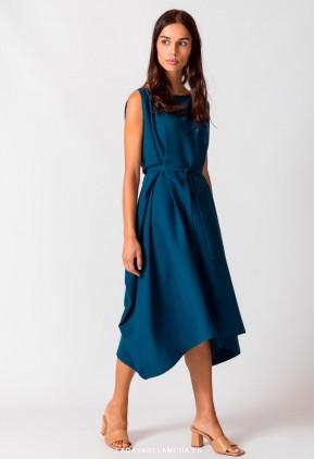 Vestido asimétrico azul