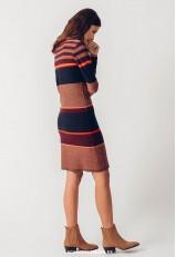 Vestido de punto ajustado de rayas