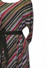 Vestido rayas de algodón y manga larga