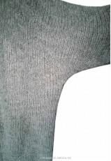 Chaqueta de punto gris