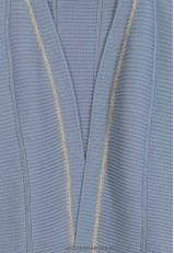 Chaqueta azul corta de punto para mujer