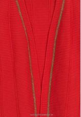 Chaqueta roja mujer punto corta