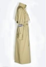 Gabardina larga mujer lisa camel sanforizada