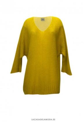 Jersey amarillo mujer barato de punto