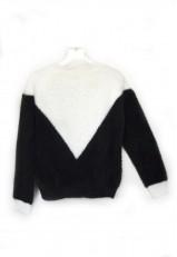 Jersey con pelo corto negro y blanco