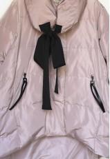 Teria Yabar abrigos rosa plumas elegante