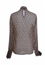 Blusa estampada gasa transparente elegante