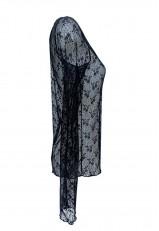 Top lencero encaje negro de manga larga