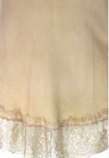 Top lencero rosa palo largo con puntilla y encaje