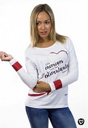 Camiseta algodón blanca con mensaje
